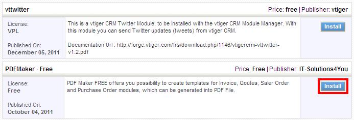 pdf maker - vtiger, Invoice examples