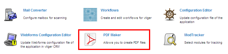 pdf maker vtiger