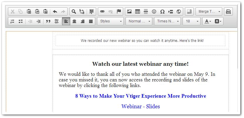 Creating email templates vtiger emailtemplatewebinarg maxwellsz